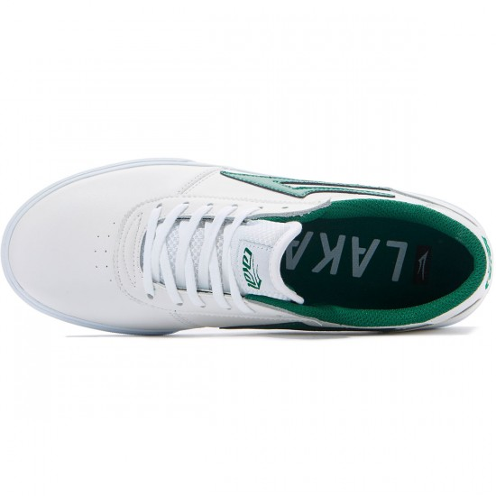 Lakai Manchester Shoes - White/Green Leather - 8.0