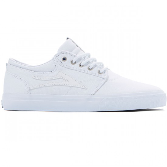 Lakai Griffin Shoes - White Canvas - 8.0