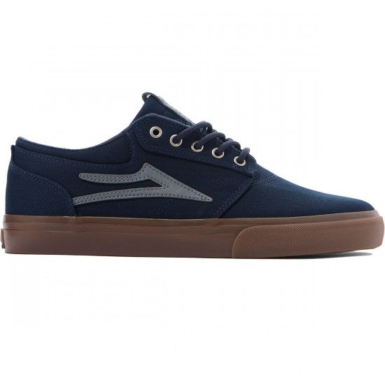 Lakai Griffin Shoes - Navy/Gum Herringbone - 8.0