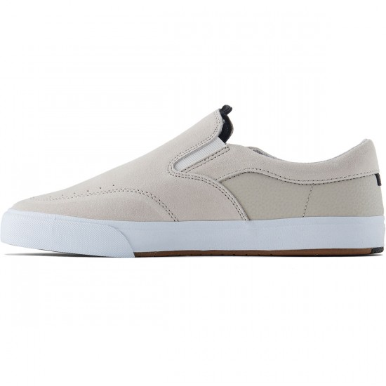 Lakai Owen Vulc Shoes - Stone Suede - 8.0