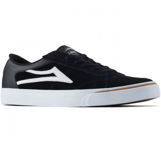 Lakai Ellis Shoes - Black/White Suede - 8.0