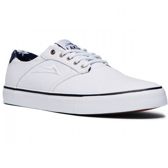 Lakai Porter Shoes - White Canvas - 8.0