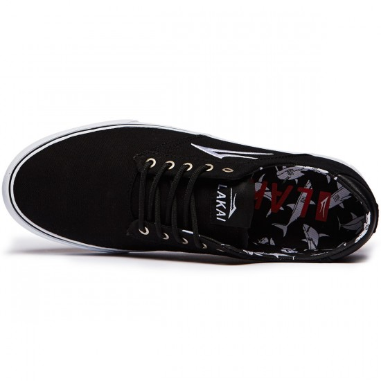 Lakai Porter Shoes - Black Canvas - 8.0