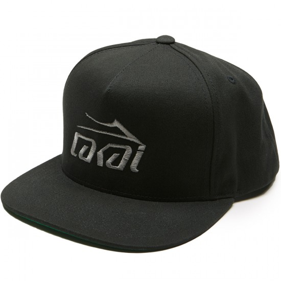 Lakai Basic Snapback Hat - Black