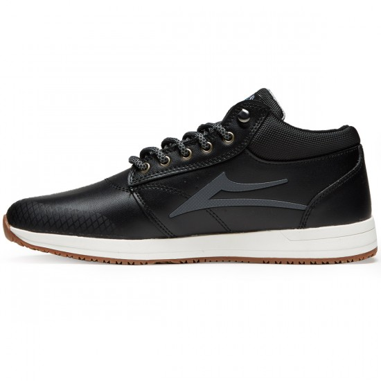 Lakai Griffin Mid WT Shoes - Black Heather - 8.0