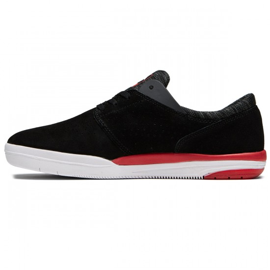 Lakai Freemont Shoes - Black Suede/Red - 8.0