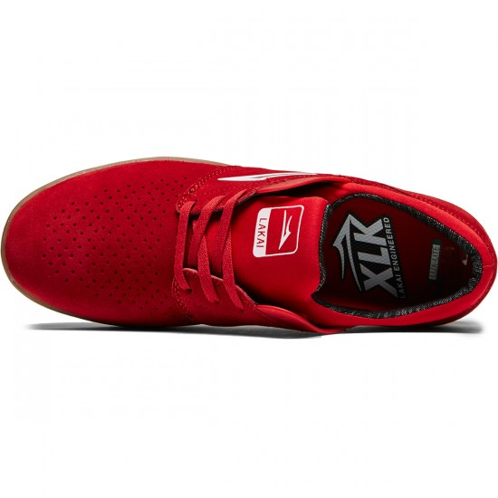 Lakai Freemont Shoes - Red Suede - 8.0