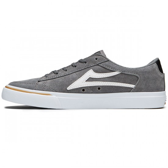 Lakai Ellis Shoes - Grey/White Suede - 8.0