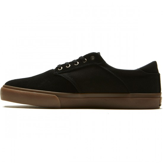 Lakai Porter Shoes - Black/Gum Suede - 8.0