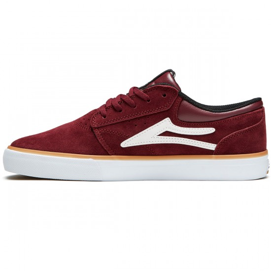 Lakai Griffin Shoes - Burgundy Suede - 8.0