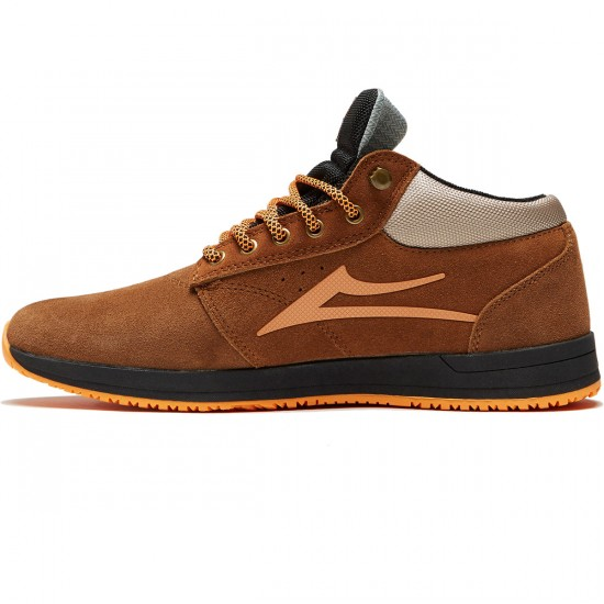 Lakai Griffin Mid WT Shoes - Nutmeg Suede - 10.0