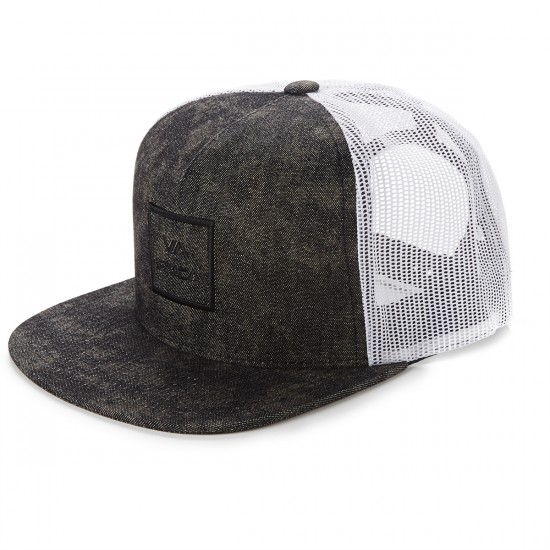RVCA VA All The Way 3 Trucker Hat - Pirate Black