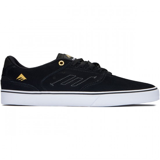 Emerica The Reynolds Low Vulc Shoes - Black/White - 10.0