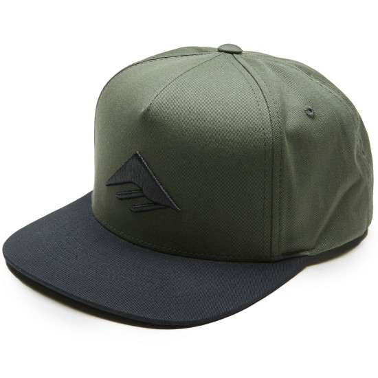 Emerica Triangle Snapback Cap Hat - Army