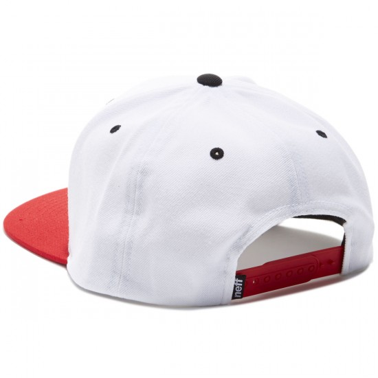 Neff Daily Hat - White/Red