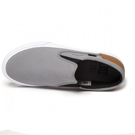 DC Trase Slip-On Shoes - Grey/Black/Brown - 8.5