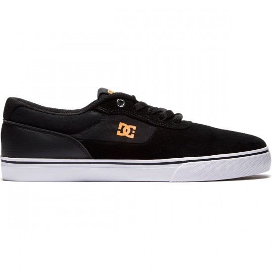 DC Switch Shoes - Black/Orange - 8.0