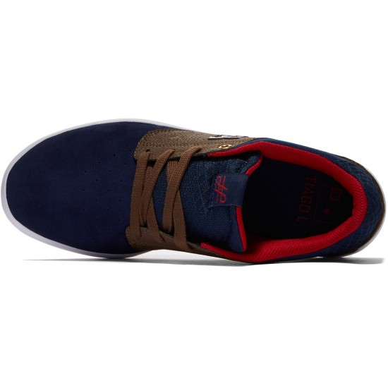 DC Plaza Tiago S Shoes - Navy/Dark Chocolate - 8.0