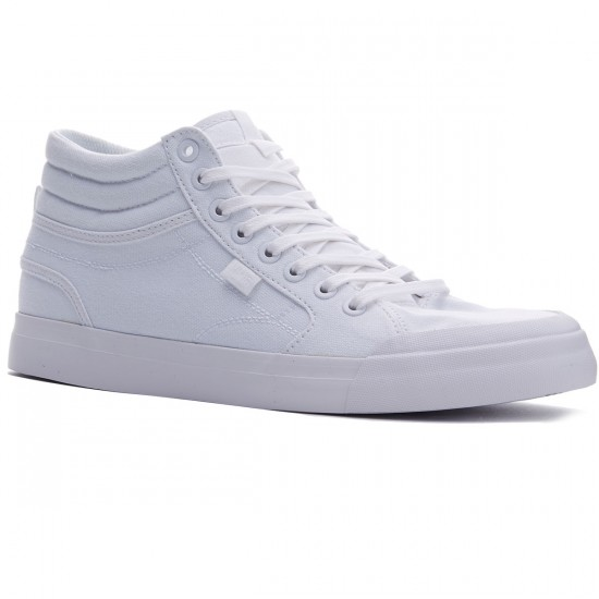 DC Evan Smith Hi Shoes - White/White - 8.0