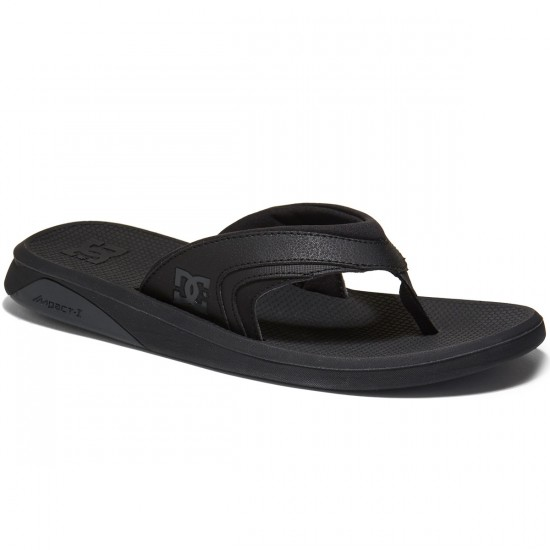 DC Recoil Sandals - Black - 7.0