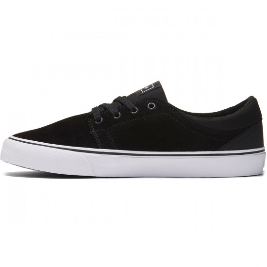 DC Trase S Shoes - Black/White/White - 8.0