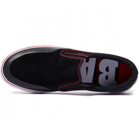 DC Trase Slip S RT Shoes - Black/Red/White - 8.0