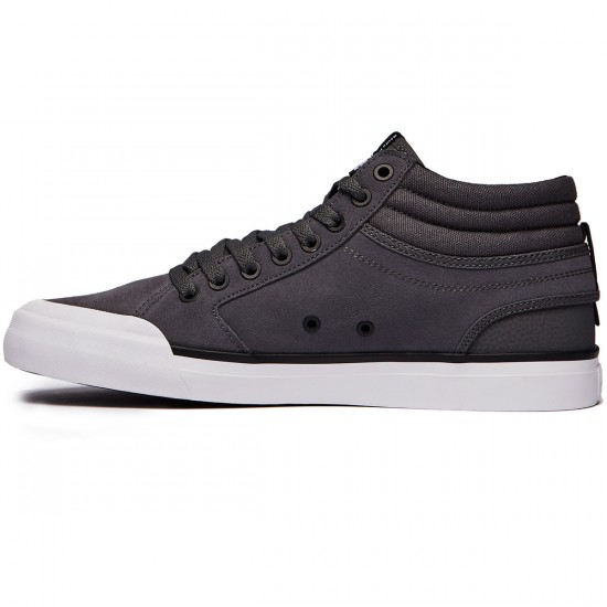 DC Evan Smith Hi Shoes - Pewter - 8.0