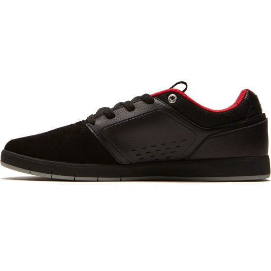 DC Cole Signature Shoes - Black/Black/Red - 8.0