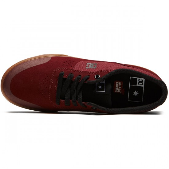 DC Switch Plus S Shoes - Maroon - 8.0