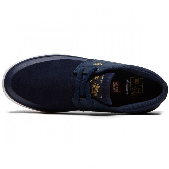DC Wes Kremer 2 S Shoes - Navy/Gold - 8.0