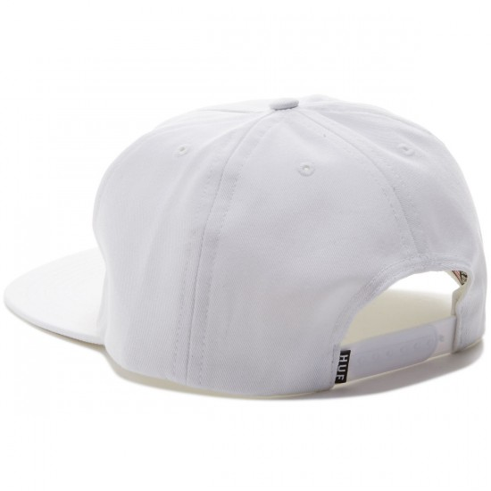 HUF MFG Station Snapback Hat - White
