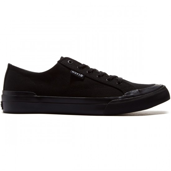 HUF Classic Lo Ess Tx Shoes - Black/Black - 8.0