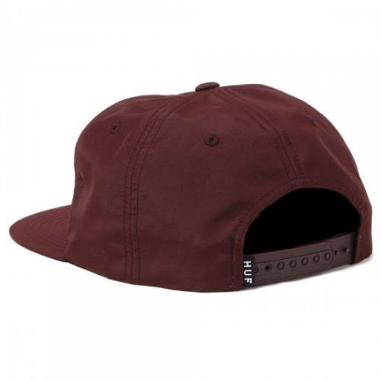 HUF Triple Triangle Snapback Hat - Wine