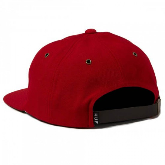 HUF Classic H 6 Panel Hat - Red