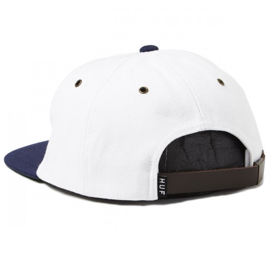 HUF Classic H 6 Panel Hat - White