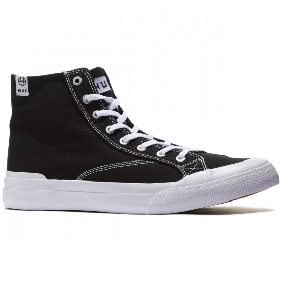 HUF Classic Hi ESS Shoes - Black - 8.0