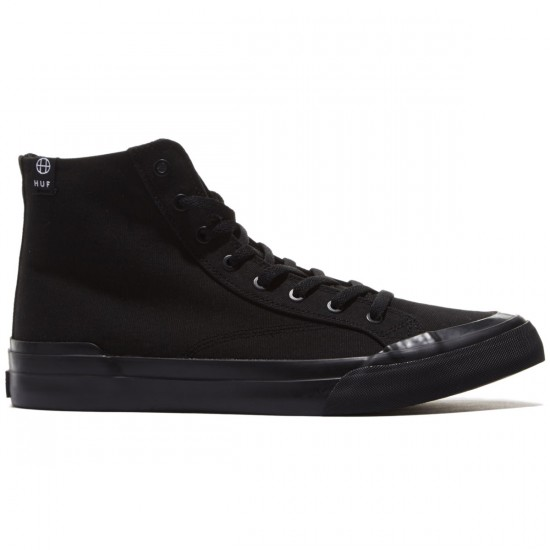 HUF Classic Hi ESS Shoes - Black/Black - 8.5