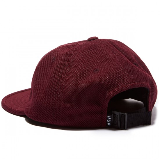HUF Diamond Knit 6 Panel Hat - Maroon