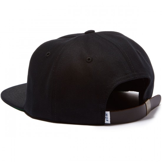 HUF X Chocolate Forever 6 Panel Hat - Black