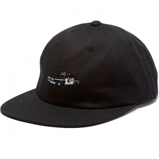 HUF X Chocolate SF Cop Car 6 Panel Hat - Black