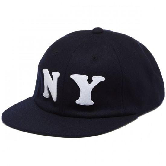 HUF City 6 Panel NY Hat - Navy