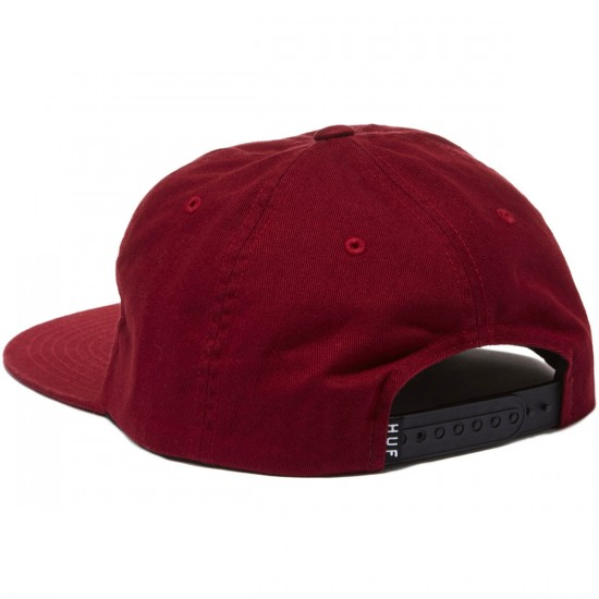 HUF Triple Triangle Snapback Fall 2016 Hat - Wine