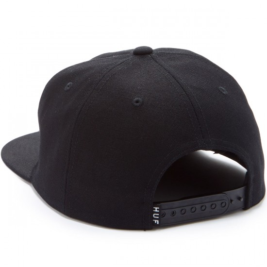 Huf Triple Triangle Snapback Hat - Black/White