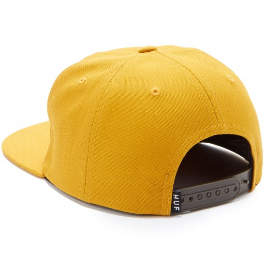 Huf Triple Triangle Snapback Hat - Mustard