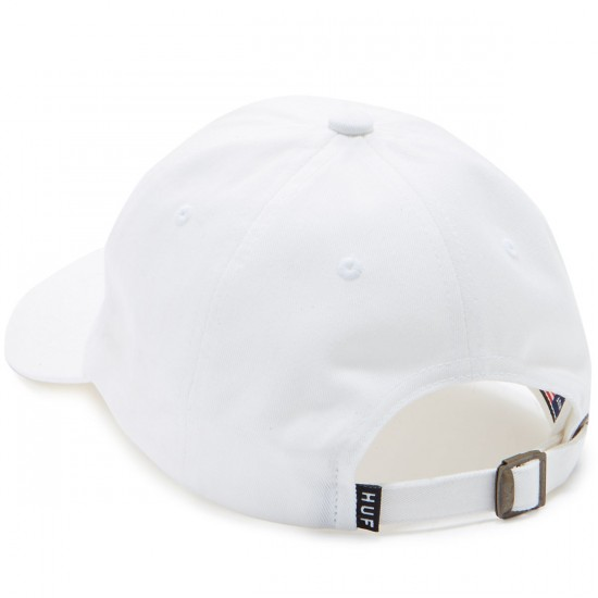 Huf Script Logo Curved Hat - White