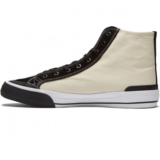 HUF Classic Hi ESS Shoes - Vintage White/Black - 8.0