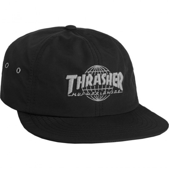 Huf X Thrasher Tour de Stoops 6 Panel Hat - Black
