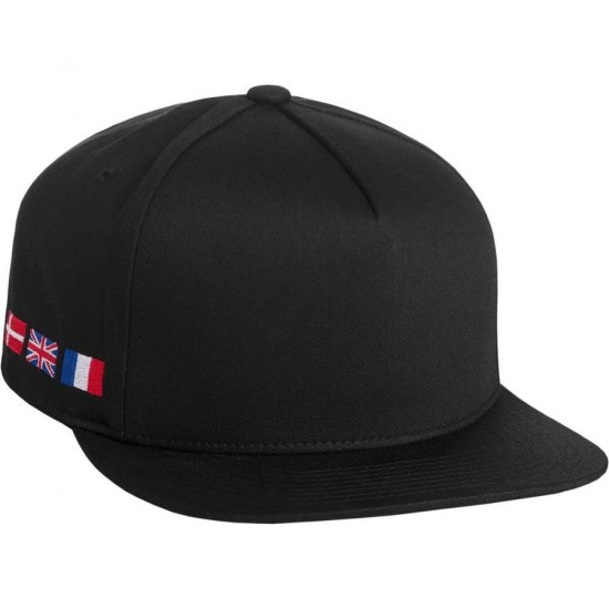 Huf X Thrasher Tour de Stoops Snapback Hat - Black