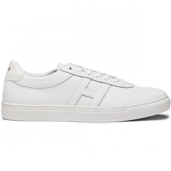 HUF Soto Shoes - White Leather - 10.5