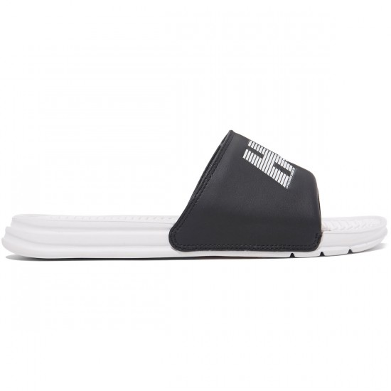 HUF Slide Shoes - Black/White 10k - 8.0